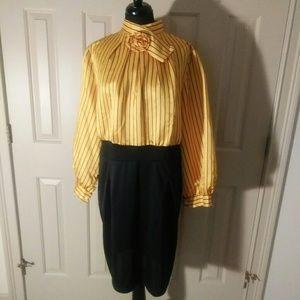 Black n Yellow pin-stripe dress..